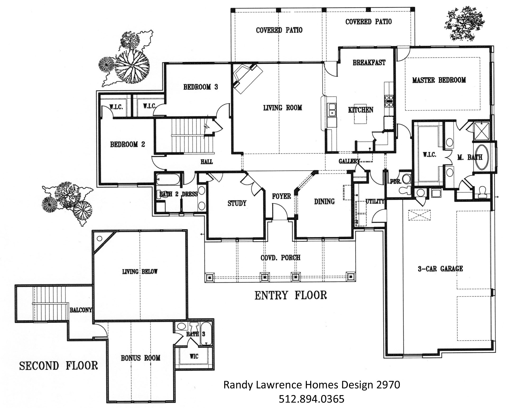 Design 2970 floorplan randy lawrence homes for Floor plan examples for homes