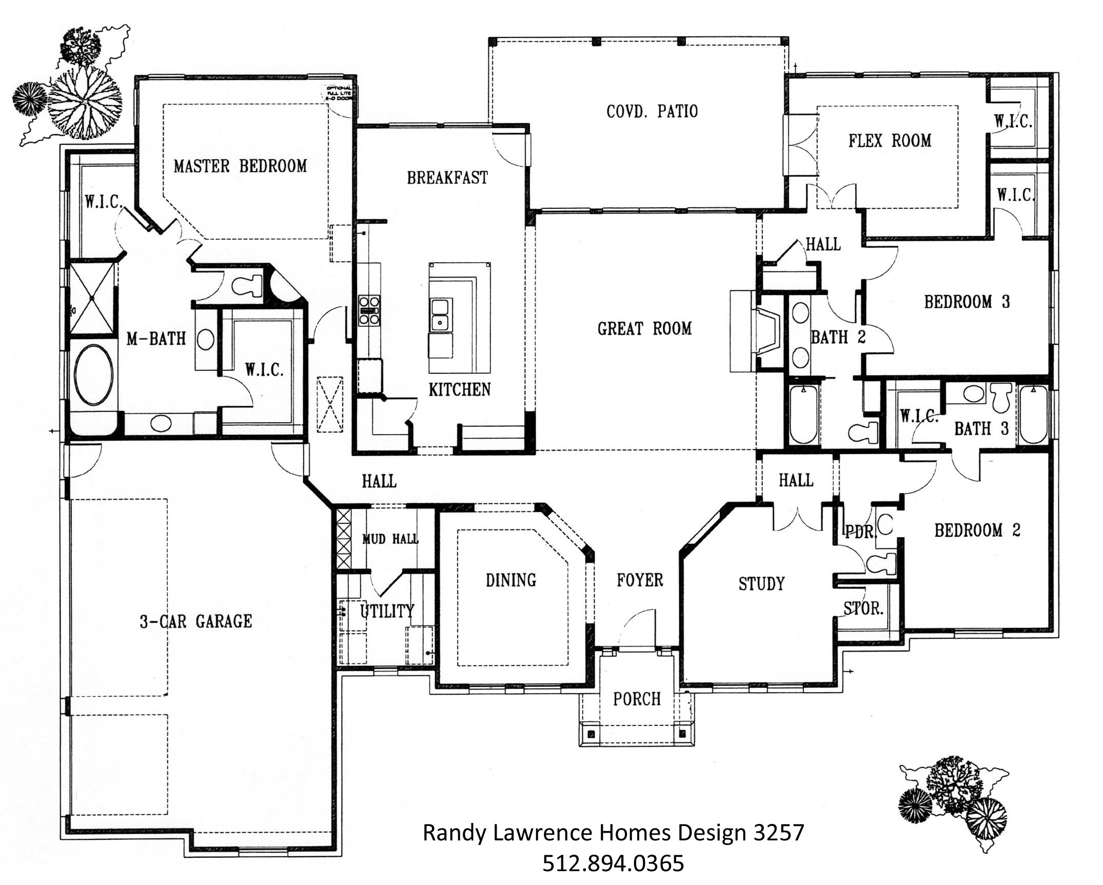 Floor plans randy lawrence homes for Sample home floor plans
