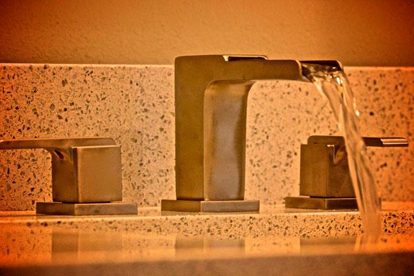 Bathroom faucet detail